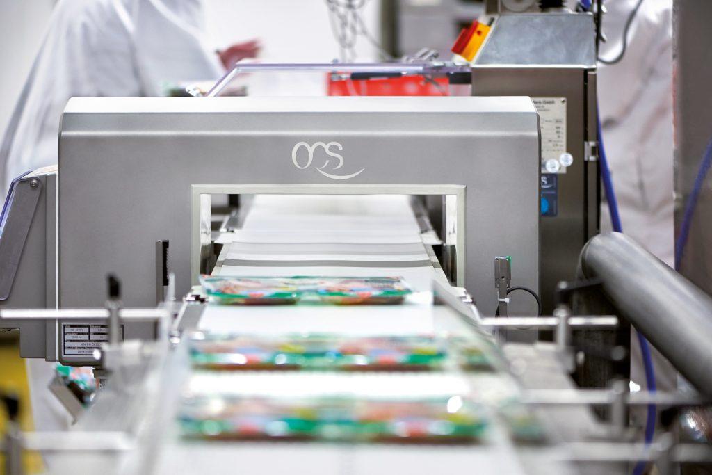 Metalldetektion und Endgewichtskontrolle der Packung