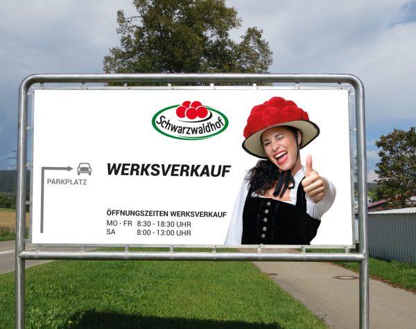 Straßenschild Schwarzwaldhof Werksverkauf